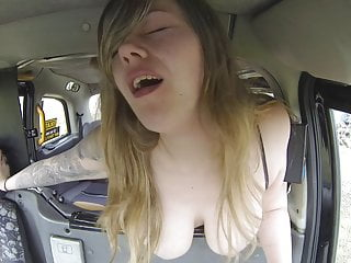 Oldyoung British porno: Old pervert taxi driver loves big titties