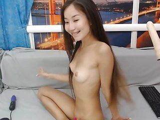 Teen Small Tits Webcam video: Tiny Asian with Fuck Machine