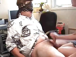 Cfnm Cougars Blindfolded video: Handjob while blindfolded - allthingscfnm