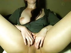 Pantyhose squirt with ohmibod