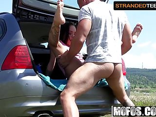 Angelina Wild - Euro Hitchhikers Roadside Swallow - Stranded
