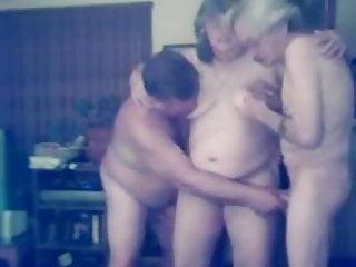 Amateur Bisexuals Threesome video: Mature amateur MFM