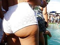 Szczery Juicyy gruby Latina w białych spodenkach !!