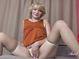 Stockings Pov Blonde video: 56 Year Old Auntie Aliona Sucks Your Cock and Jerks You Off