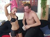 Skinny German Teen Anna Fucks at First User-Date