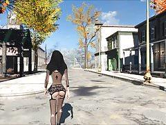 Fallout 4 Nun Walking