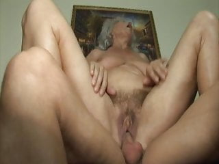 Blowjob Big Tits Granny video: Grandma seduced by lustful stepson
