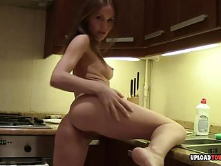 Kitchen Masturbates Very Hot video: Very hot lonley masturbates in the kitchen