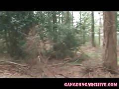 Gangbang Archive Europäische Outdoor-Orgie