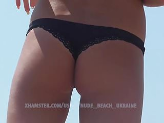 Voyeur Beach Skinny video: Hot slim Ukrainian bikini model. Beach hidde camera. HD