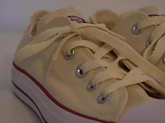 Buty mojej siostry: zupełnie nowy beżowy Converse I 4K
