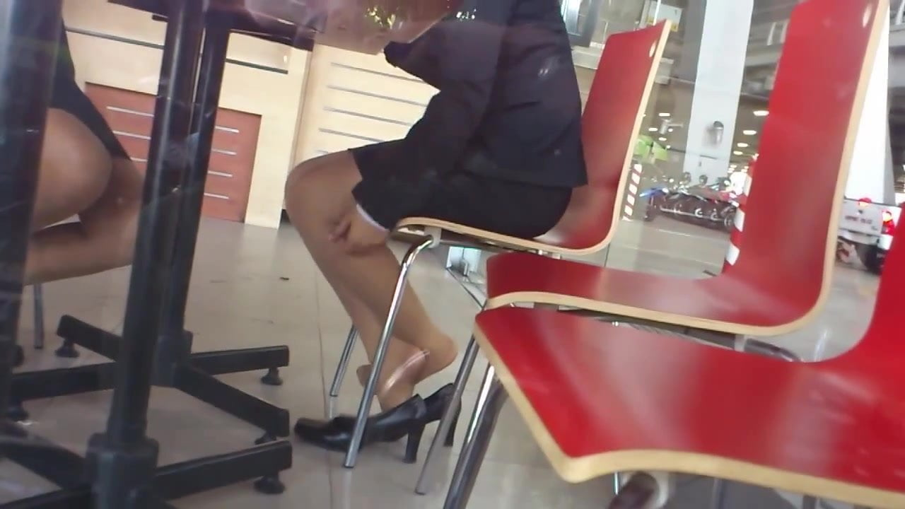 Nylon Feet Under The Table
