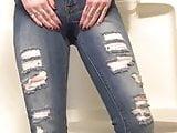 Bathtub Jeans Pee Desperation, Leaking & Wetting