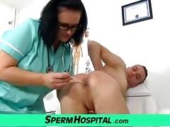 Puttana sporca infermiera Danielle e ragazzo con la sega