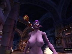 Nightelf Tits in Zeitlupe
