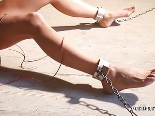 Foot Fetish Teen Skinny video: Luna in the south american prison part 3