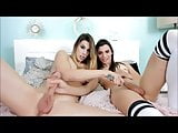 Young Trannies Jerking Off Together