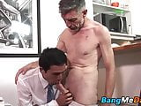 Bottom bitch twink rides daddy's meaty bazooka to the end