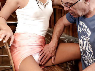 Matures Oldyoung Dad video: DADDY4K. Can you trust your girlfriend leaving her alone...