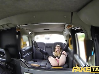 Amateur British Car video: Fake Taxi Horny hot student desires drivers big dick again