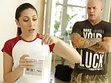 Babysitter Judy Jolie massaging a married man