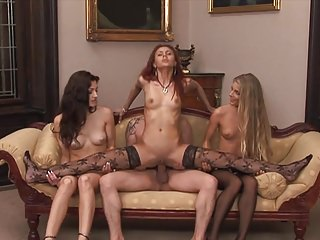 Anal Gaping Group Sex video: One Cock 3 Hungry Assholes To Service equals One Lucky Dude