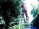 Grandpa on ladder 1