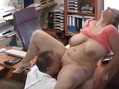 Gruby niemiecki PAWG Fucked In The Office