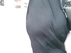Jiggly pawg ass w czarnych setkach