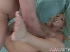 Hot Ash-blonde Takes Some Fine Milky Dick