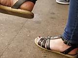 Pretty feet in sandals