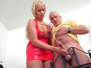 Teen Blonde Handjob video: German Handjob