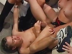 group of MILF fuck a young boy