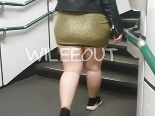 Candid Big Booty Pawg Thick Delicious Thighs Tight Skirt