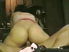 sexy brunette wife riding then suck dry