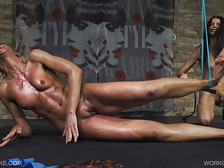 Lesbian Skinny Slave video: Workout - Holly - Queensnake.com - Queensect.com