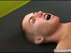 3D cartoon hunk sucking cock and getting fucked in the ass
