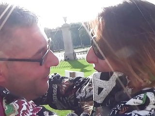 Italian Stockings Outdoor video: Traveling to Monza to fuck and break Veronica's ass