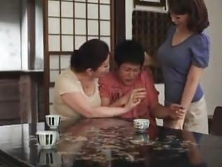 Japanese Cheating Mom video: They fights for lucky boy