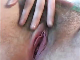 Hairy Closeups Fingering video: Beautiful hairy cunt fondling fingers