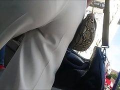 Turkish Teenie Candid Bootie Beyaz Pantolon Kilot Izi
