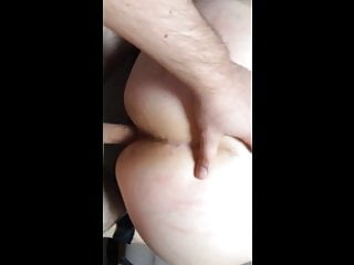 Cuffed blonde loves to be spanked