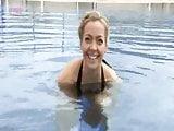 Cherry Healey skinny dipping