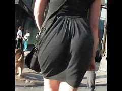 Candid Pawg Ass Clapping in Dress