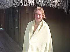 żona na wakacjach
