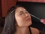 Beautiful Asian takes a facial