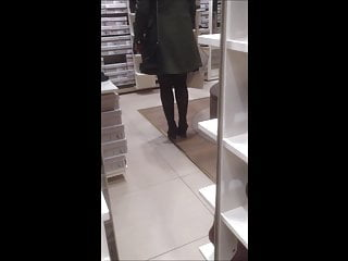 Stockings Foot Fetish High Heels video: candid in pantyhose buy shoes.