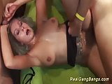 busty german milf extreme group banged