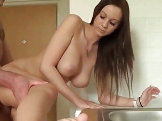 Teen Big Tits Creampie video: Innocent and Busty Teen Used By Her Owner of an Apartment