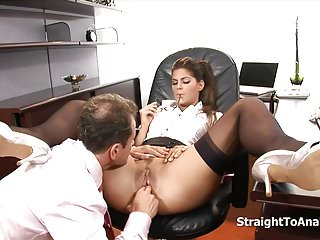 .Lazy Secretary DeFrancesca Tight Anal Fucked.